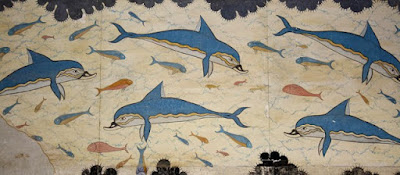 fresco de los delfines