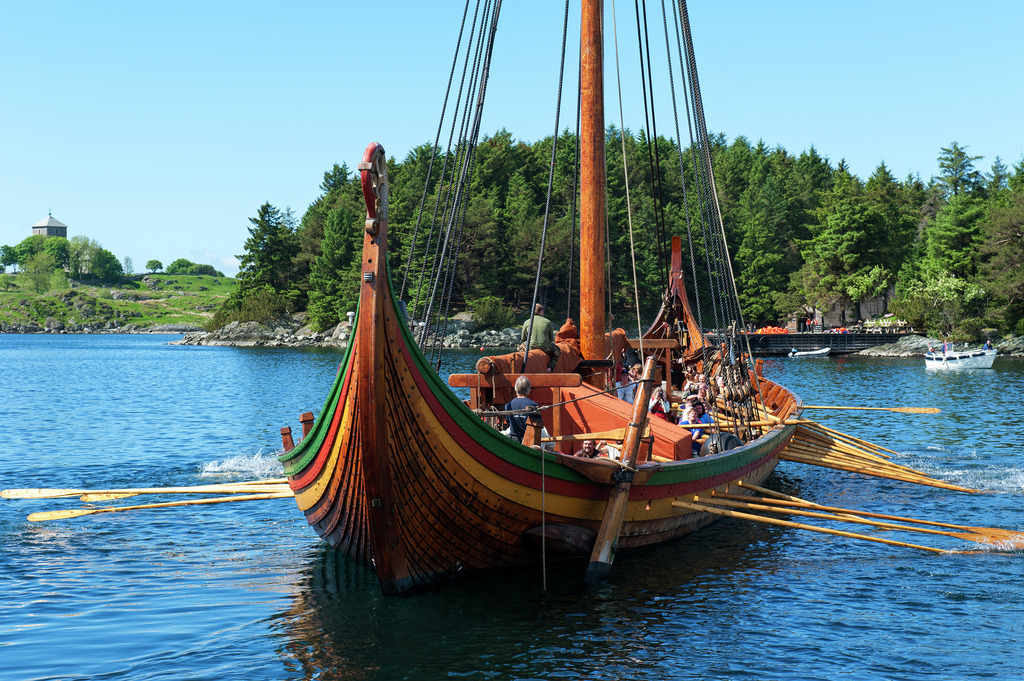 Glide along on board your authentic Viking longship in Norway! Photo is the property of Visitnorway.com. Unauthorized use is prohibited.