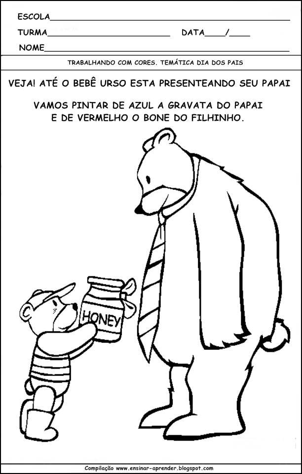 Jornal R 7ª Atividade Dia Dos Pais Para Pintar E Colorir