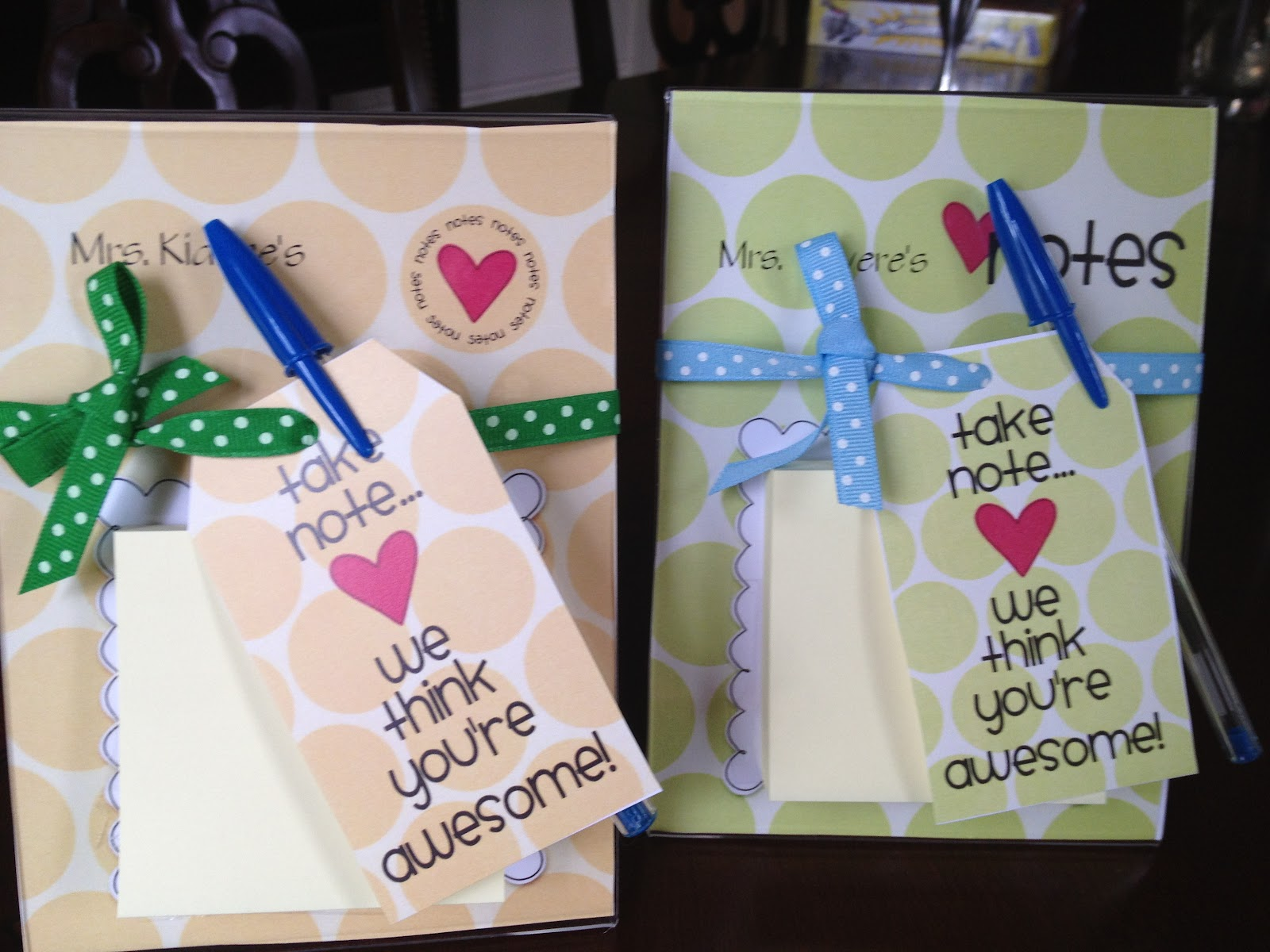 Homemade teacher appreciation gift ideas