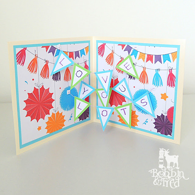 Surprise 'LOVE YOU LOTS' Bunting Card