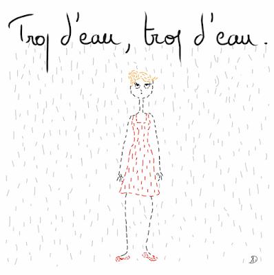 agathe, albane devouge, dessin, eau, humour, il pleut, illustration, illustratrice, mai, météo, mois de mai, pluie, printemps, sale temps, temps,