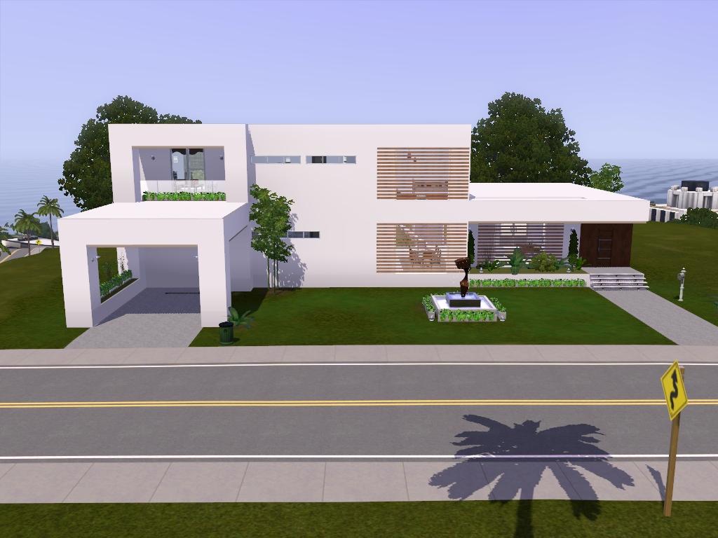 Roomy house via sims for Casas sims 4 modernas