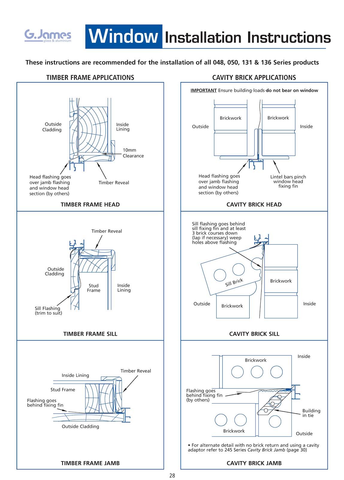 Reverse Brick Veneer Timber Frame Window Installation Guide