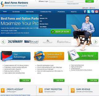 Programa de afiliados de opciones binarias y Forex Best Forex Partners
