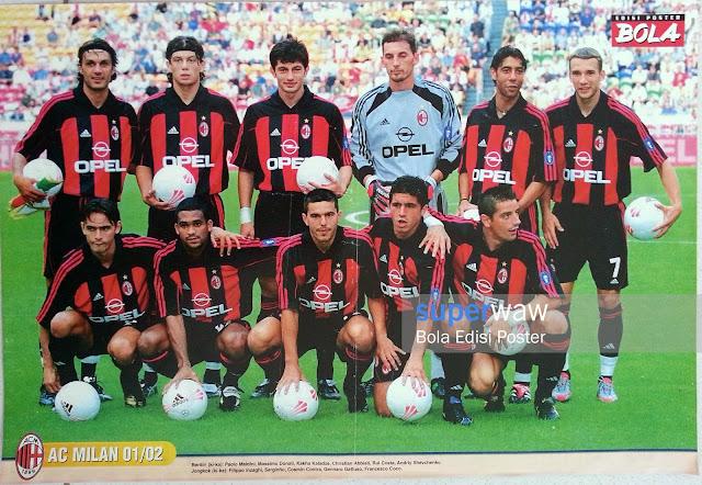 Poster Tim AC Milan 2001