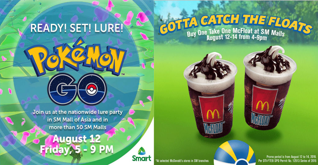 Pokemon GO Smart and Mcdonalds promo