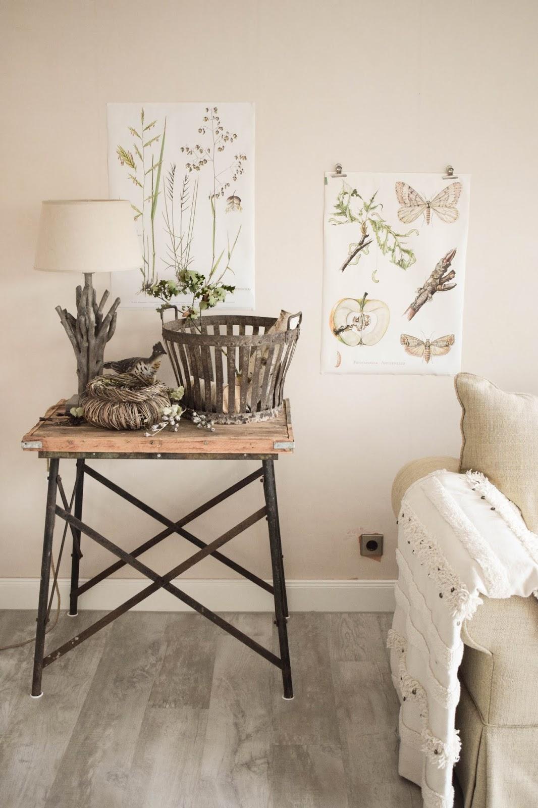 Deko Herbst Naturdeko natürlich dekorieren für Sideboard Konsole Kranz Flohmarkt Dekoidee wohnzimmer