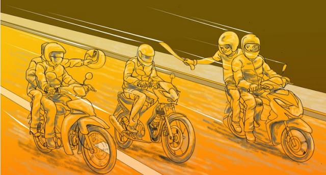 Geng Motor Beraksi di Cipayung, Rusak Spanduk Lalu Bacok Pelajar Hingga Tewas.