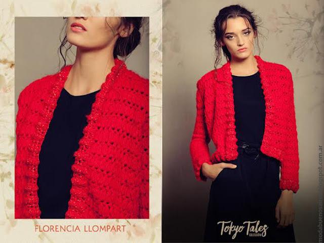 Sacos tejidos otoño invierno 2016 Florencia Llompart. Moda otoño invierno 2016 tejidos artesanales.