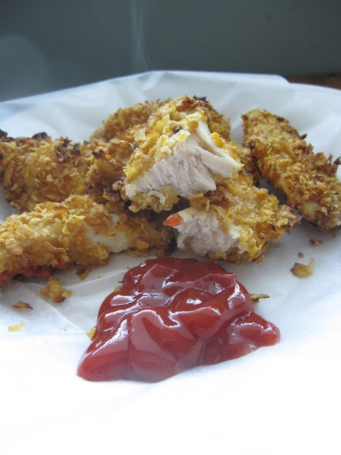 Baked Cornflake Chicken Fingers Recipe