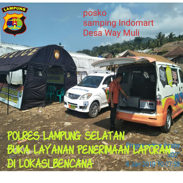 Polres Lamsel Dirikan Pos Pelayanan Laporan Kehilangan di Way Muli