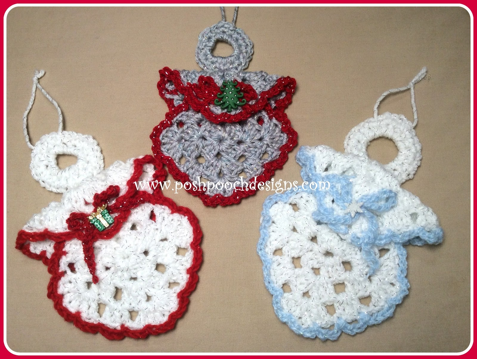 Posh Pooch Designs Dog Clothes: Granny Square Angel Ornament Crochet ...