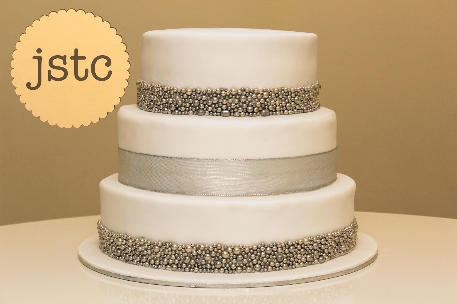 Jemma s Sweet Treat Catering  Silver Wedding Cake Silver Wedding Cake