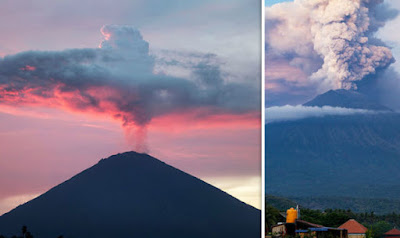 Indonesian Volcano- Mount Agung Erupts Again