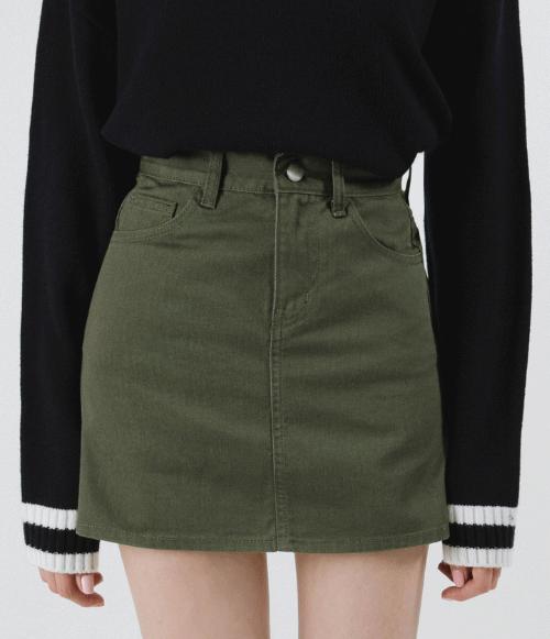 Solid Mini Skirt