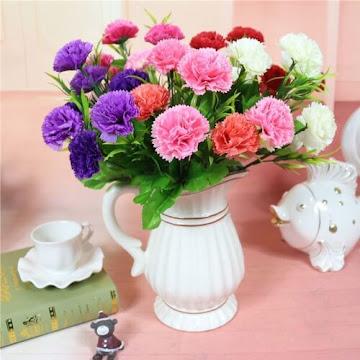 Bunga Plastik / Bunga Artificial Carnation (Seri D13)