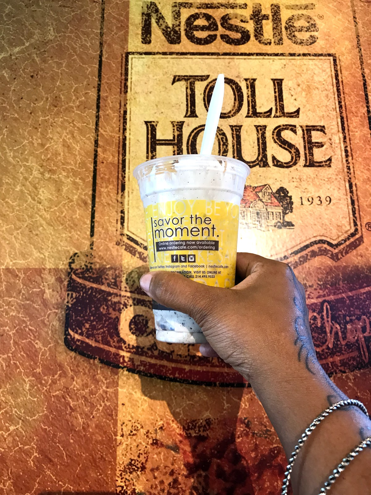 Image: Woman Sharing Toll House Ice Cream On Bits and Babbles, Blog Weekend Bits and Favorites