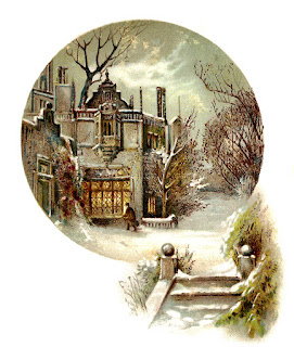 house scrapbooking winter scene dowload