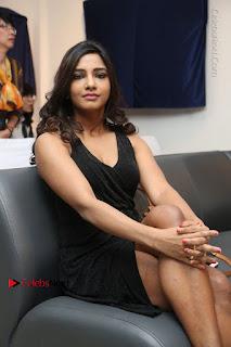 Telugu Actress Kamna Singh Stills in Black Dress at Bharat Thakur Art Exhibition Launch  0167.jpg