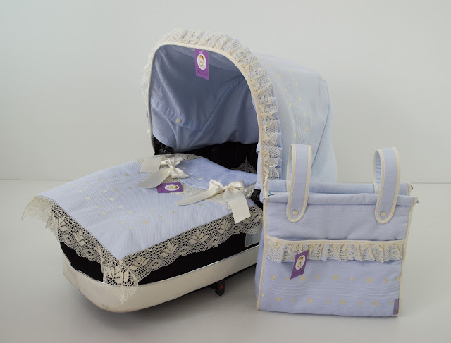 capota lencera celeste beige bebecar