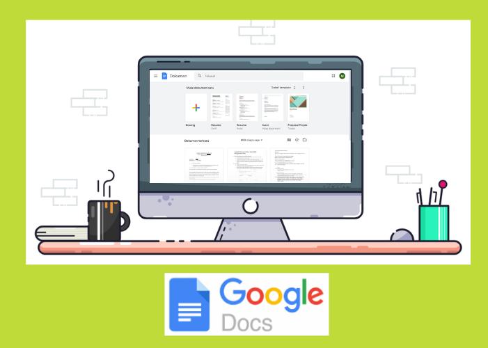 Monitor membuka layar google docs