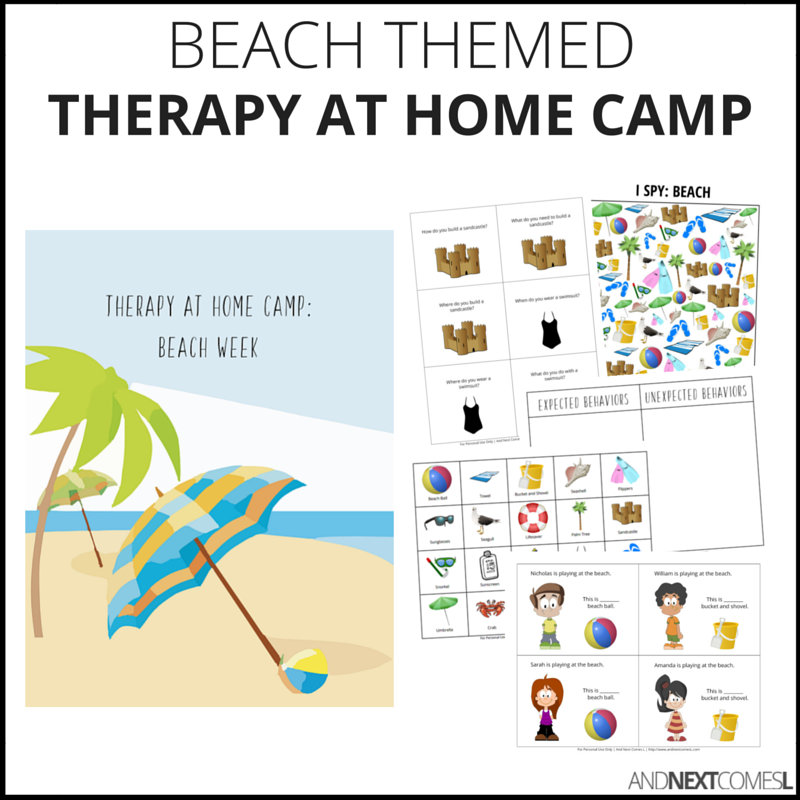 Therapy at home camp packs