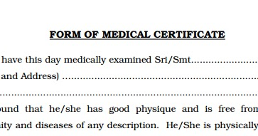 MEDICAL CERTIFICATE FORMAT FOR LIVESTOCK INSPECTOR PSC APPLICATION FORM  DOWNLOAD   Kerala PSC Online  Medical Certificate Format