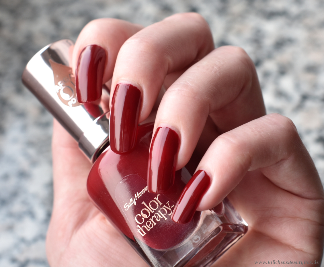 Sally Hansen - Color Therapy - Unwine'd - Swatch & Tragebild