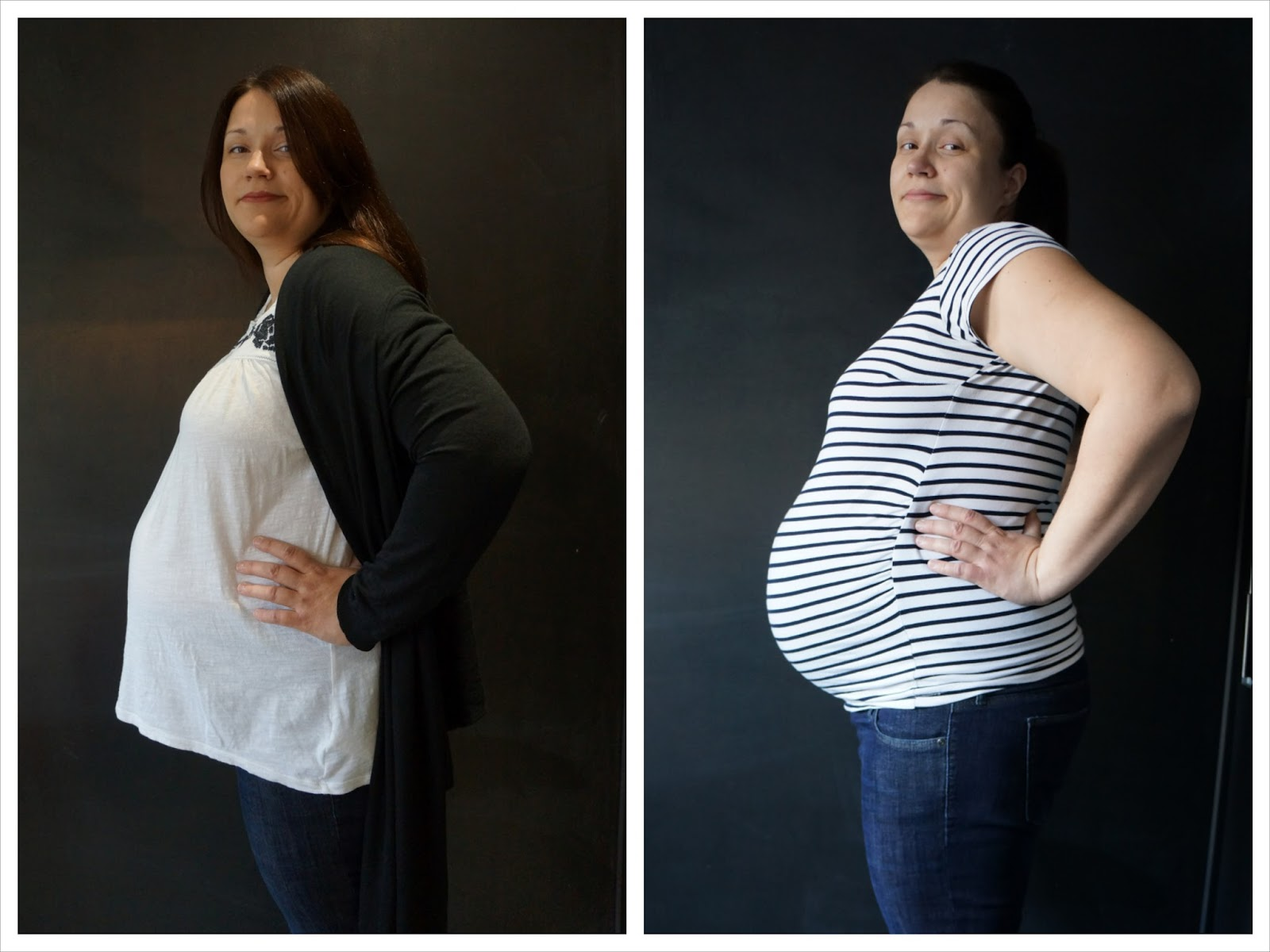 loose and tight maternity wear top