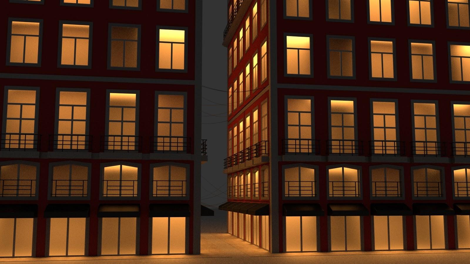 Free 3D Shop House .blend file