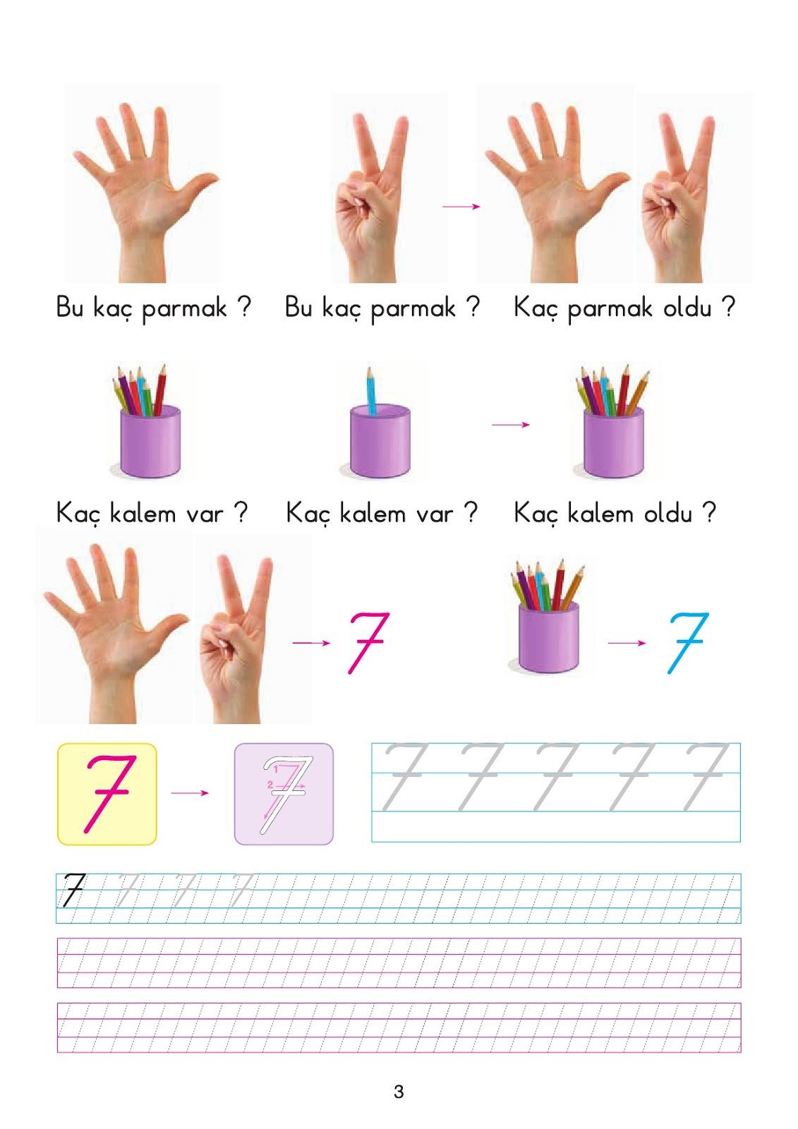 1 Sinif Matematik 7 Rakami Calisma Sayfasi Ders Kitabi Cevaplari