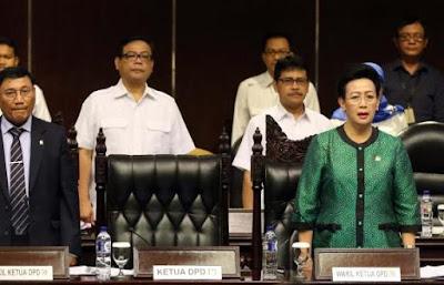 Rapat paripurna DPR RI terkait Pemberhentian Irman Gusman dari jabatan Ketua DPD