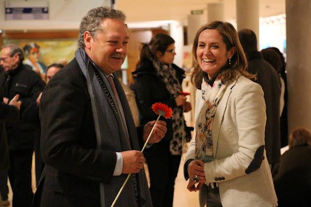 La alcaldesa, en un acto en la casa de cultura de San Vicente