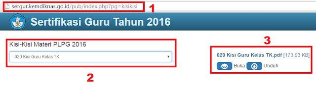 gambar cara download Kisi-Kisi Materi PLPG 2016 TK, SD, SMP, SMA/SMK