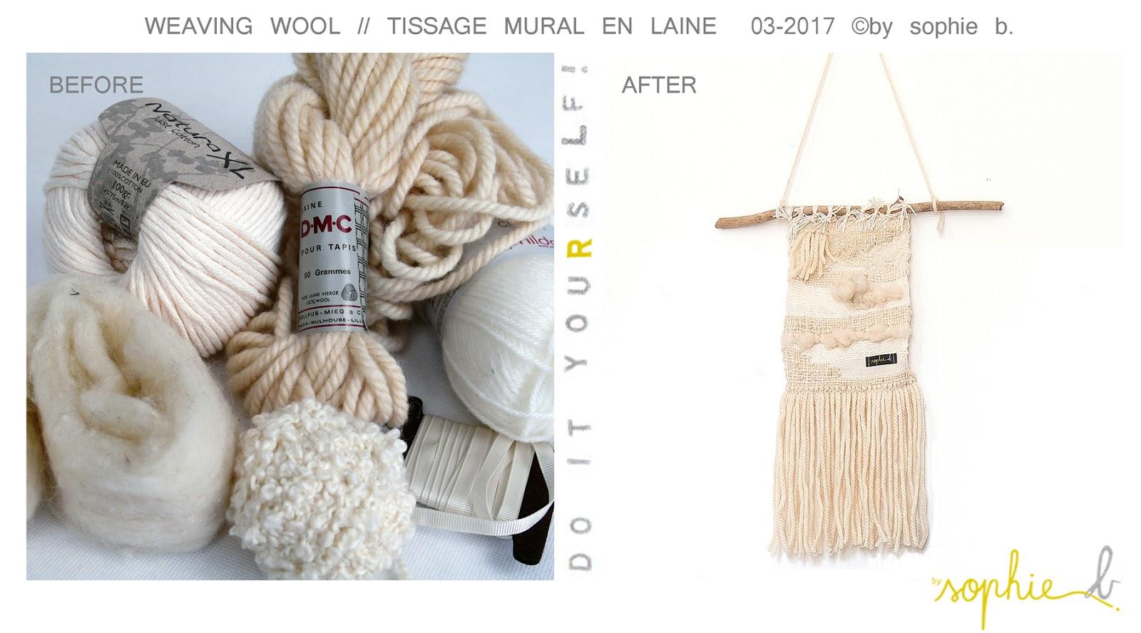 by sophie b spring summer 17 tuto tissage mural en laine d i y weaving whool by. Black Bedroom Furniture Sets. Home Design Ideas