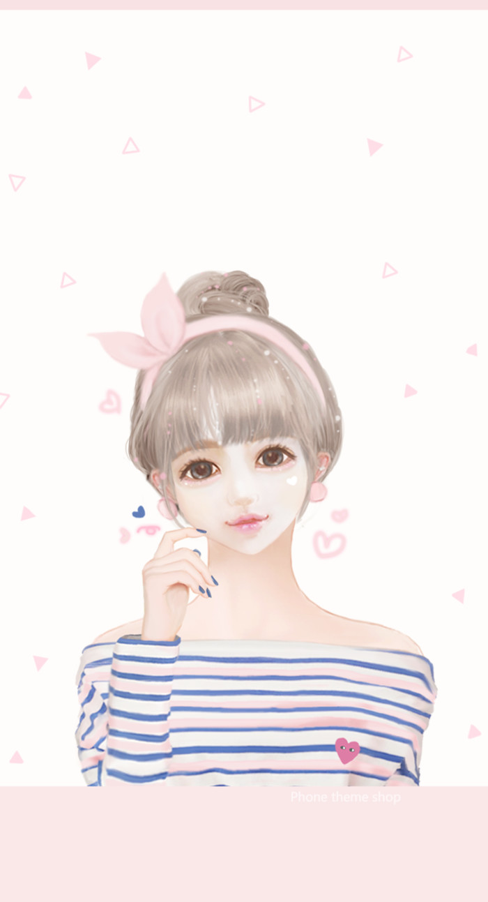 Cartoon Cute Little Girl Wallpaper Littlebug 365 สำหรับมือถือ ภาพวาดของ Enakei