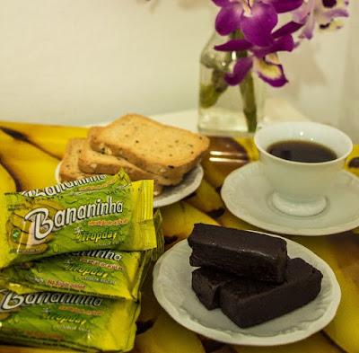 Doce à base de banana Tropdan, mantem o sabor e os nutrientes da fruta, sem adição de corantes e açúcar.