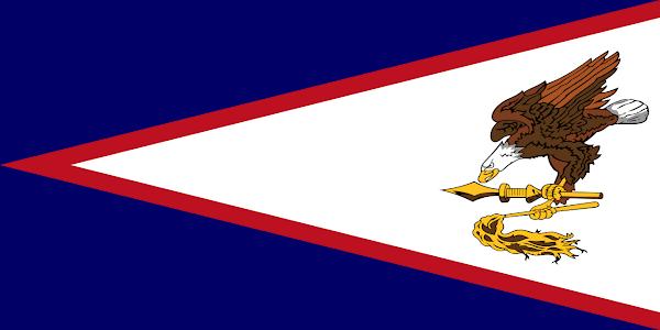 Logo Gambar Bendera Negara Samoa Amerika PNG JPG ukuran 600 px