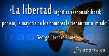 Frases para la libertad George Bernard Shaw