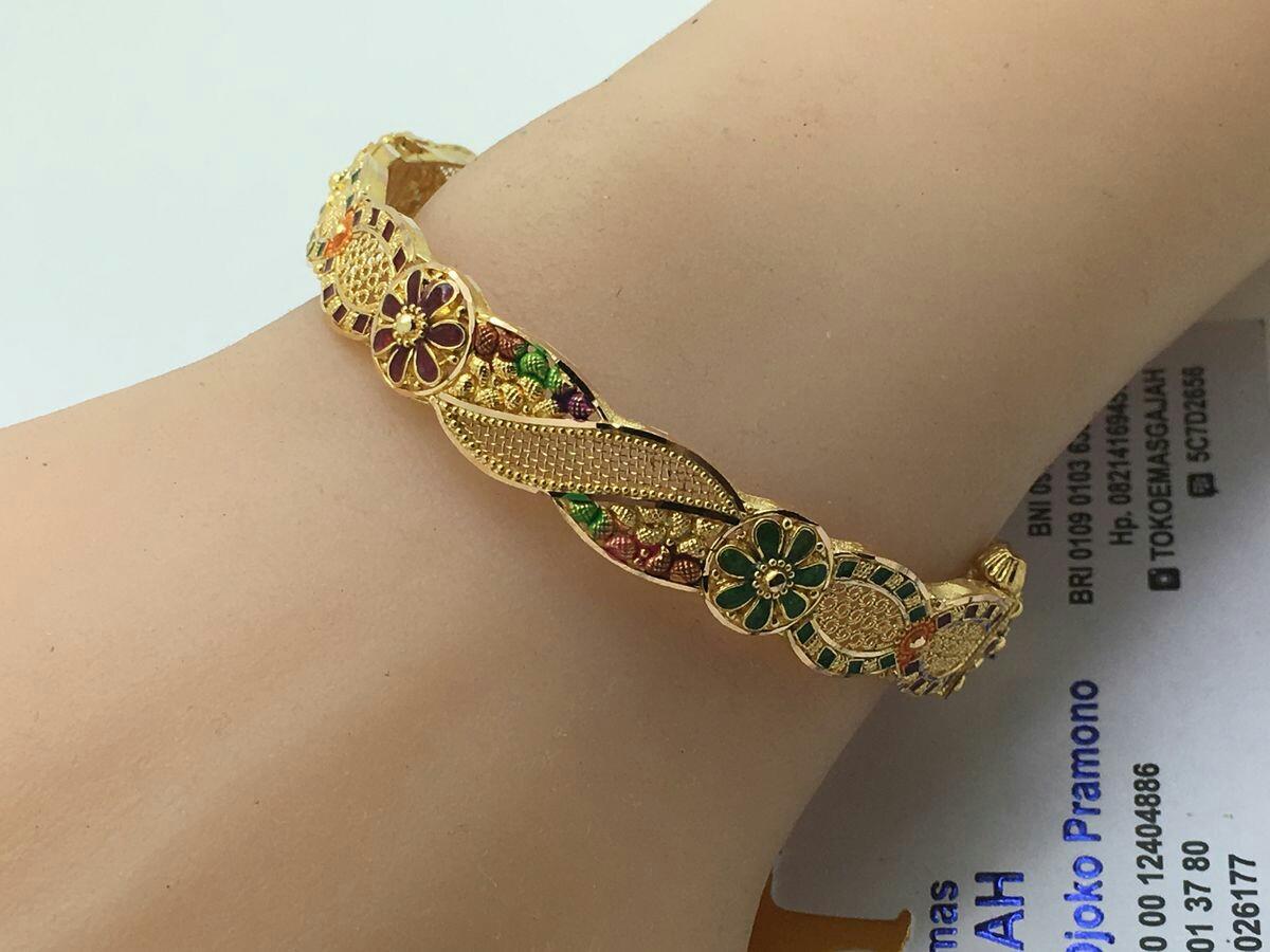 Multi color gold bangles - Latest Jewellery Design for Women | Men ...