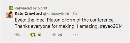 A tweet from Kate Crawford
