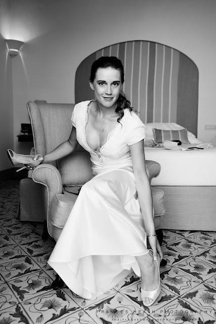 Bride at Villa Cimbrone