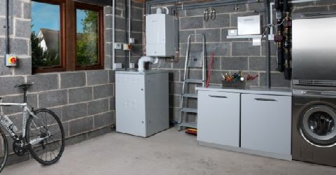 BlueGen CHP unit garage installation