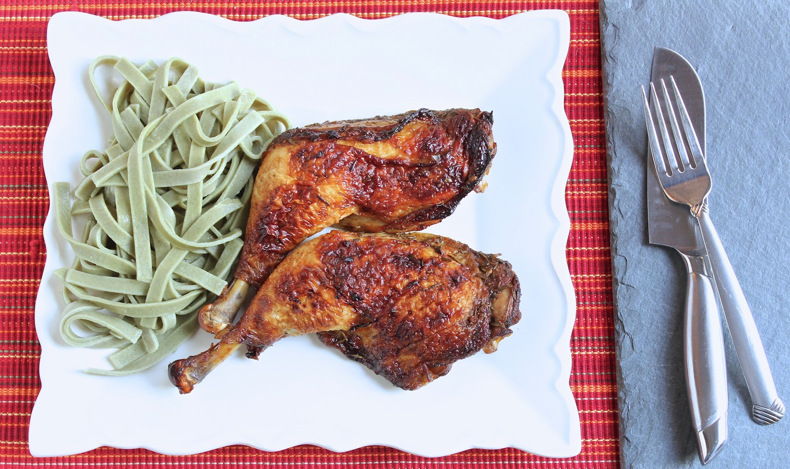 Roasted Balsamic Rosemary Chicken Quarters