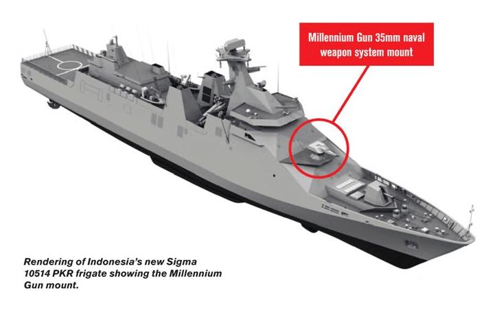 PKR frigate, CIWS Millenium Gun 35mm