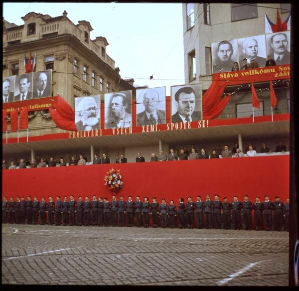 Colour Photographs Of May Day Parade In Prague Czech