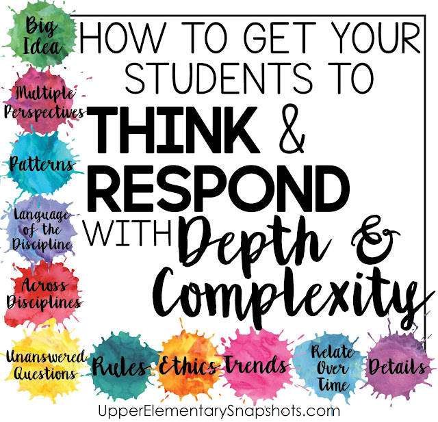 Using Depth and Complexity to create critical thinkers.