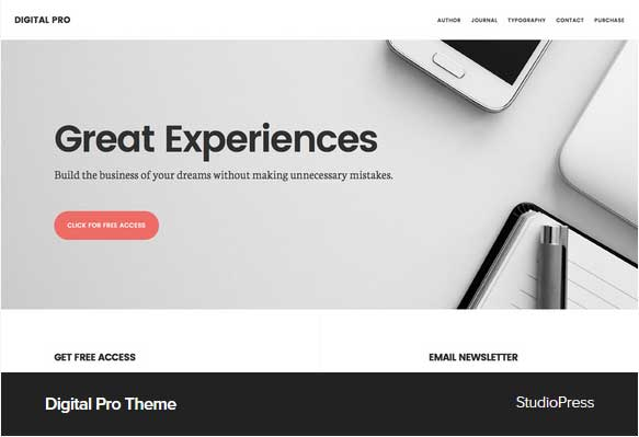 Award Winning Pro Themes for Wordpress Blog : Digital Pro theme : Award Winning Blog