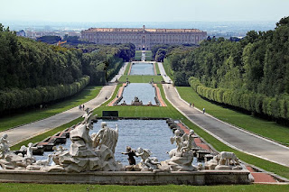 The incredible sloping watercourse is one of the features of the Royal Palace in Caserta